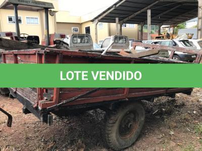LOTE 018 - Equipamento Agrícola Reboque para Trator